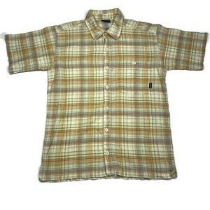 Patagonia Men's Short Sleeve Plaid Shirt Size M